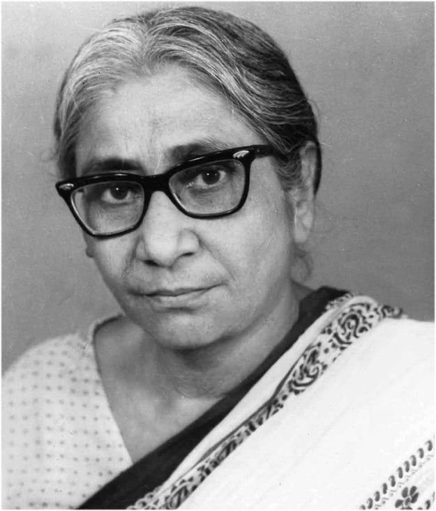 Asima Chatterjee — the first Indian woman to receive a Doctorate of Science from an Indian university.