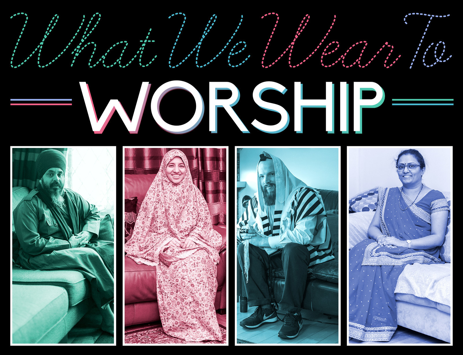 What do Christians wear during worship?