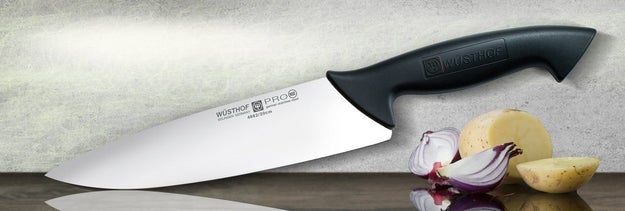 A sharp knife that'll actually slice through stuff without using all your might.