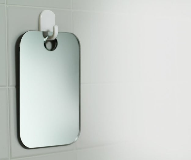A fog-free mirror that'll help you make sure you didn't miss any spots.