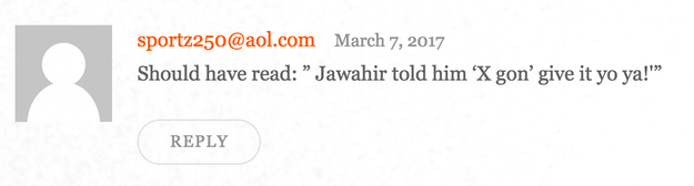 And anonymous commenters on the site are trolling hard.
