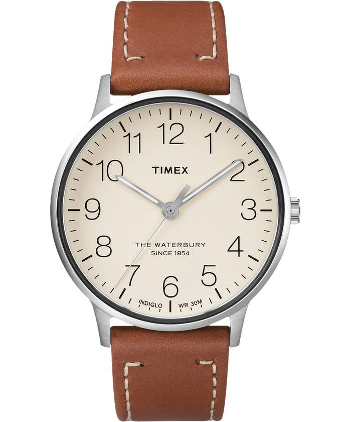 Like all Timex watches it has Indiglo, so you can tell time in the dark. Get it from Timex for $85.