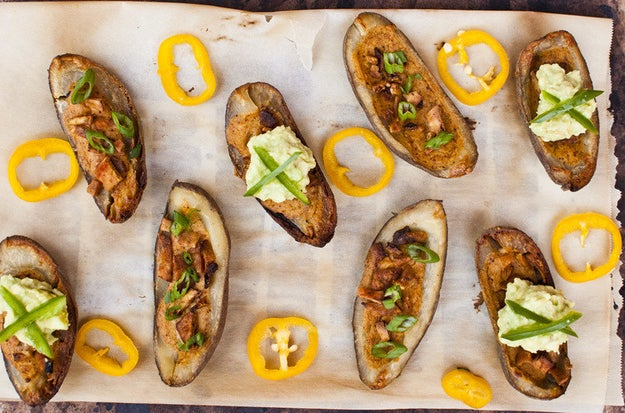 If you're vegan, it's probably been a while since you've knocked back some potato skins. Now's the time to try again with this recipe.