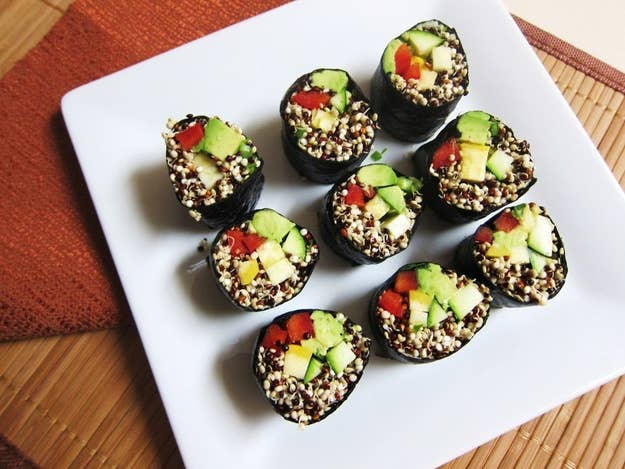 Sushi in its most conscious form. Get the recipe here.