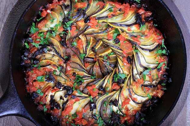 You can have the goodness of ratatouille without the meat. Get the recipe here.