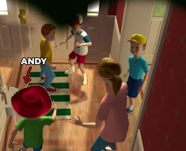 Well, did you ever notice something odd about Andy's friends...............?