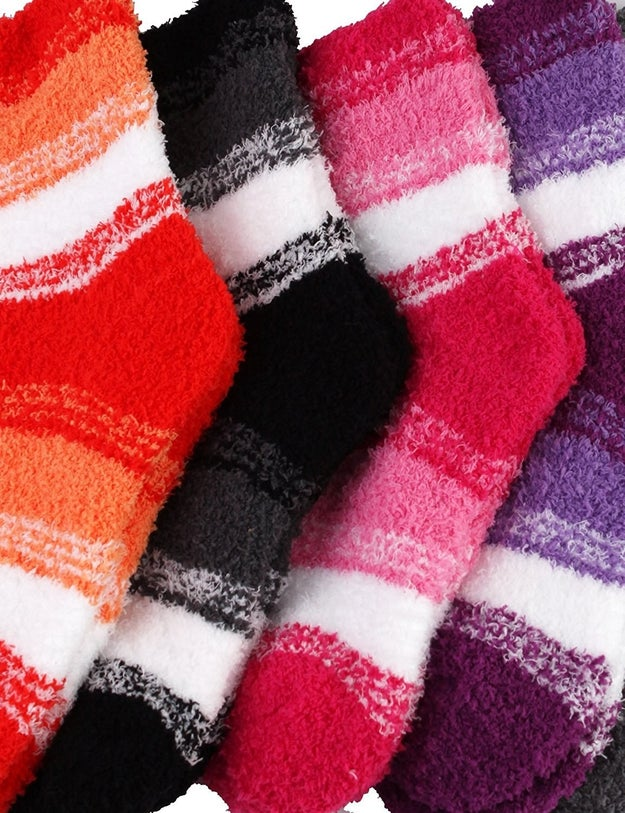 Fuzzy socks to put on after you kick off your shoes at the end of a long day.