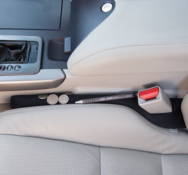 A seat gap blocker stops your fries and change from falling down into the Carmuda Triangle.