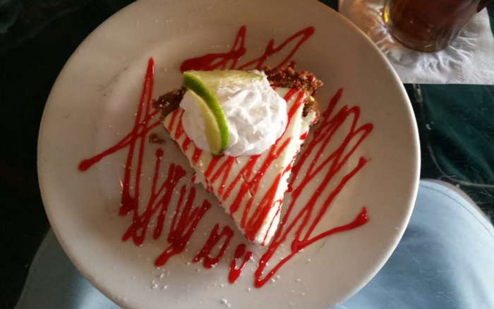 """""""I have never liked Key lime pie, but even I was surprisingly swayed by their signature dessert. Rich and smooth, sweet and tangy, the pie filling coupled with the buttery crust perfectly satisfied my palette."""" —Yelper Anjali M.""""The Key lime pie is made in-house and is in our top three of best KL pies that we've found in the South."""" —Yelper Anne F."""