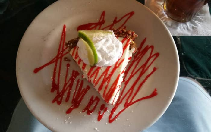 """I have never liked Key lime pie, but even I was surprisingly swayed by their signature dessert. Rich and smooth, sweet and tangy, the pie filling coupled with the buttery crust perfectly satisfied my palette."" —Yelper Anjali M.""The Key lime pie is made in-house and is in our top three of best KL pies that we've found in the South."" —Yelper Anne F."