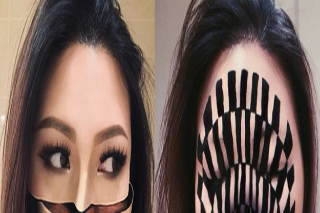 This Artist Creates MindBlowing Optical Illusions Using Makeup - Mind blowing optical illusion