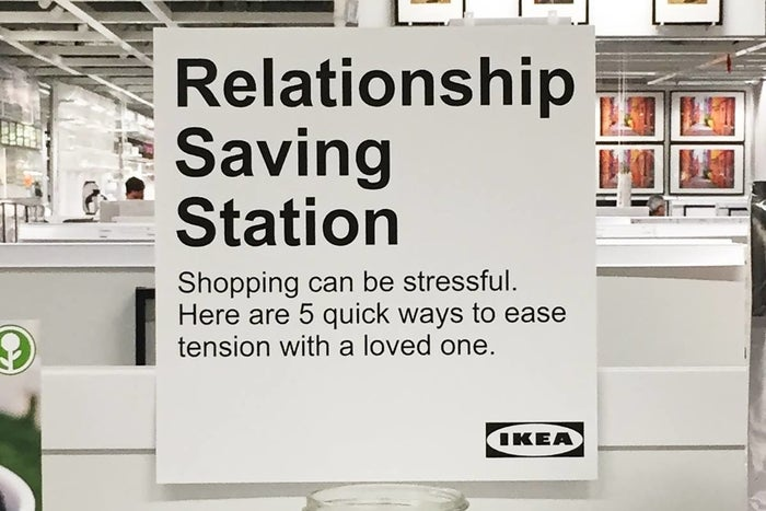 """""""Ikea is notorious for being a stressful place for couples to shop,"""" Wysaski tells BuzzFeed. """"This was a fun project to try and address that fact."""""""