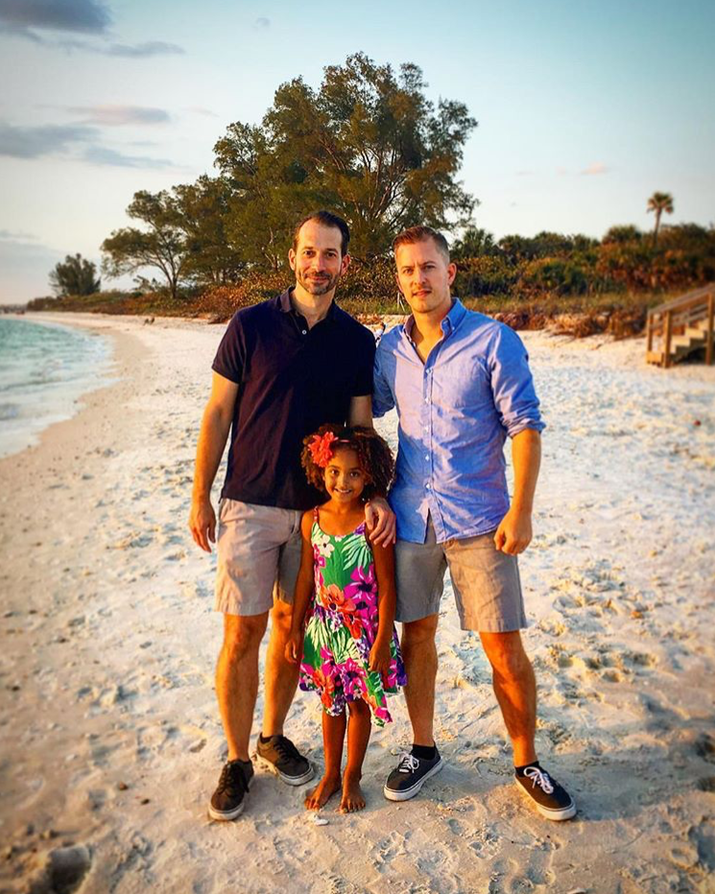 'I'm always impressed when people from my past who I've made the mistake of assuming they wouldn't be accepting make even the simplest of gestures by liking a photo of my family on Facebook. It's meaningful. You see that my family is just like yours or the other families in your life.'—Jeff and Michael