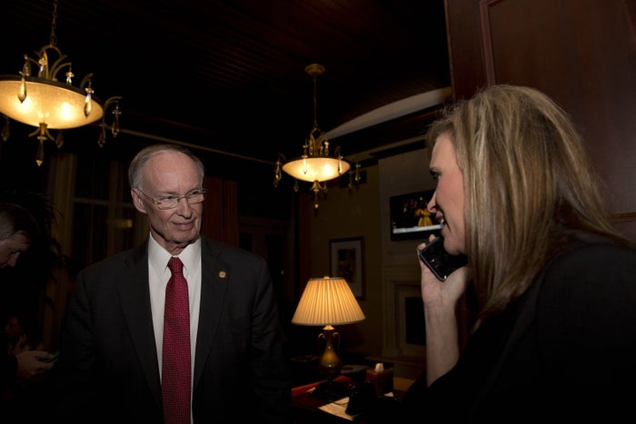 Gov. Robert Bentley with aide Rebekah Mason on Nov. 4, 2014.
