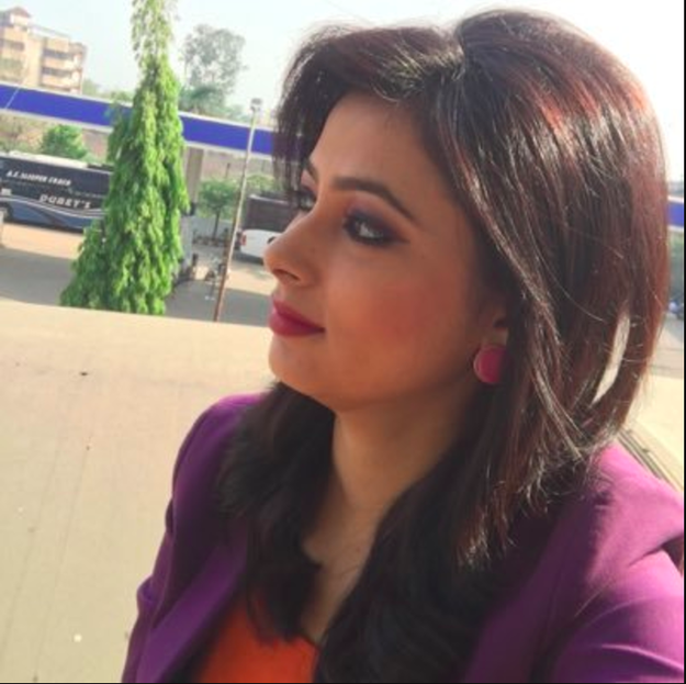 This is Supreet Kaur, a 28-year-old news anchor for IBC24, a regional news channel in India.