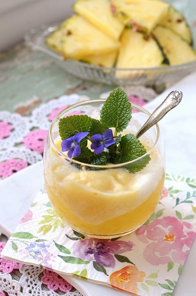 Prosecco Pineapple Sorbet Floats