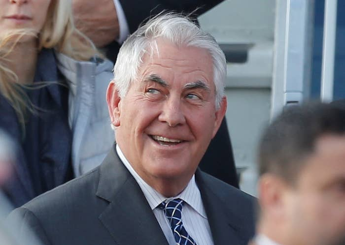 US Secretary of State Rex Tillerson arrives in Moscow