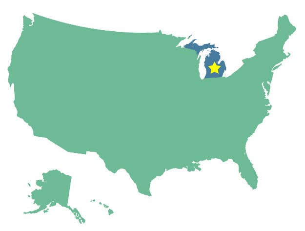Can You Identify The US States Without Their Outlines?