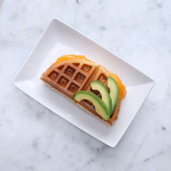 Waffle Grilled CheeseServings: 4 INGREDIENTS2 cups waffle mix1 tablespoon minced rosemary (fresh or dried)1 egg2 tablespoon vegetable oil1⅓ cup milk8 ounces sliced sharp cheddar cheesePREPARATION1. In a large bowl, combine waffle mix, rosemary, egg, oil, and milk. Stir until well combined.2. Pour about ½ cup of the batter into the waffle iron (amount may vary based on the size of the waffle iron). Cook until the waffle is golden brown.3. Add slices of cheese on half of the waffle. Carefully, fold the other half on top and close the lid. Cook until the cheese is melted.4. Serve & enjoy!
