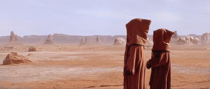 Várias frases da língua africana foram aceleradas e alteradas pra criar a língua dos pequenos nativos de Tatooine.