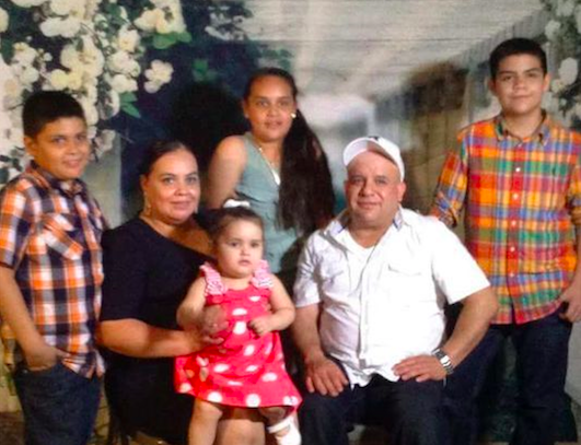 Maribel Trujillo-Diaz with her four children and husband.