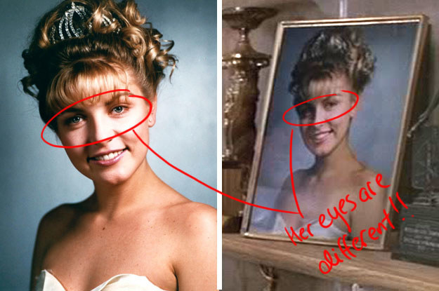 And, for some unexplained reason, Laura Palmer's photo in the show is DIFFERENT in the feature film Fire Walk With Me.