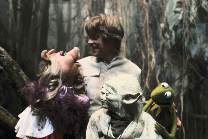 De acordo com a lenda, Frank Oz (que fez a voz de Yoda) trouxe os Muppets para ajudar Mark Hamill a relaxar enquanto filmavam as cenas de Daggobah.