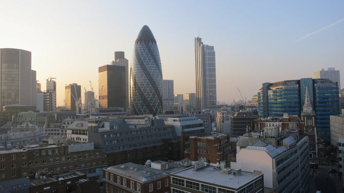 Part of the London skyline.