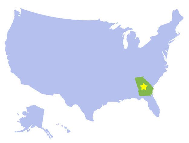 Can You Identify The US States Without Their Outlines - Name the us states map quiz