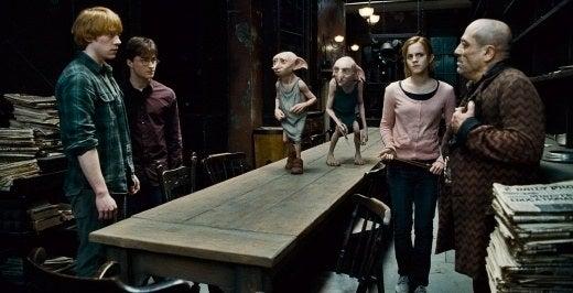 'Mi parte favorita de la saga completa de libros era cuando Kreacher marchaba con los demás elfos domésticos, coreando consignas contra Voldemort. ¡Estaba deseando ver esa escena en la película! Sabía que no ocurriría porque los elfos domésticos apenas aparecen en las películas'.—smccue