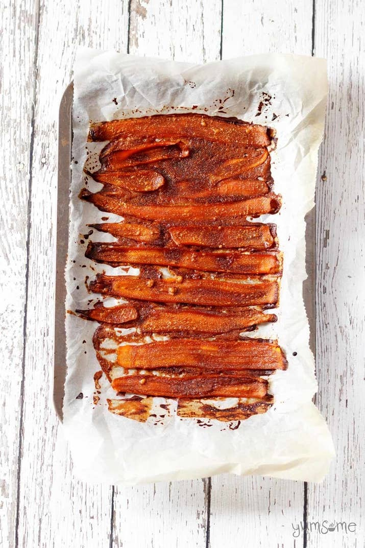 Maple syrup, tahini, liquid smoke and coconut aminos give this veggie side dish the salty-sweet, smoky taste of cured meat. Get the recipe.