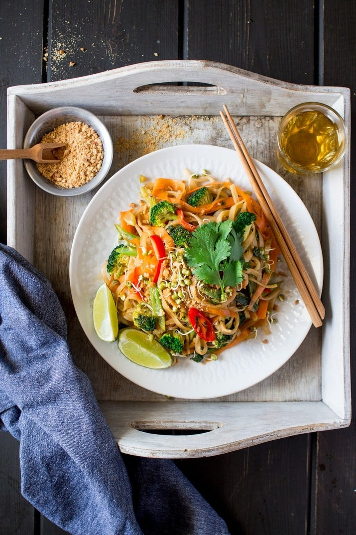 Put down the takeout menu. Tamarind paste, tamari, soy sauce, maple syrup and lime make the secret sauce in this fancy Thai stir-fry. Get the recipe.