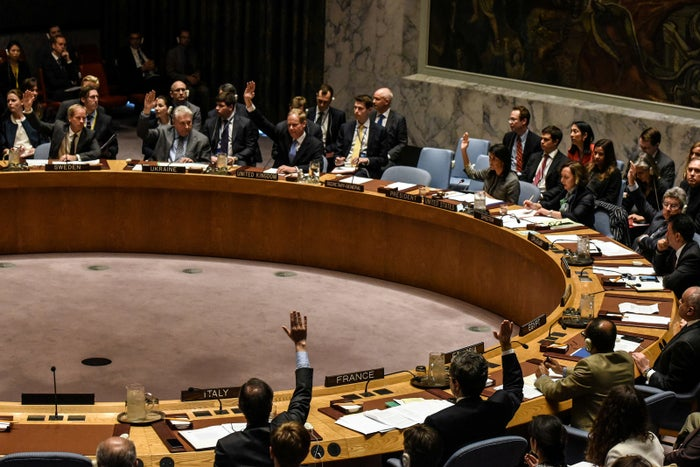 """""""Russia has seen the same pictures that we all saw just days ago in this chamber,"""" he said, referring to the chemical attack on a town in the Syrian province of Idlib that killed 70 people, many of them children. """"How could anyone look at the faces of lifeless children and choose to veto a resolution condemning those deaths?"""""""