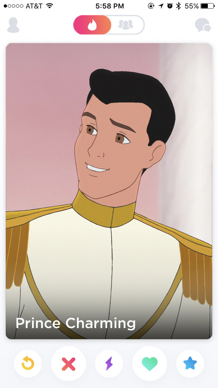 buzzfeed disney prince tinder