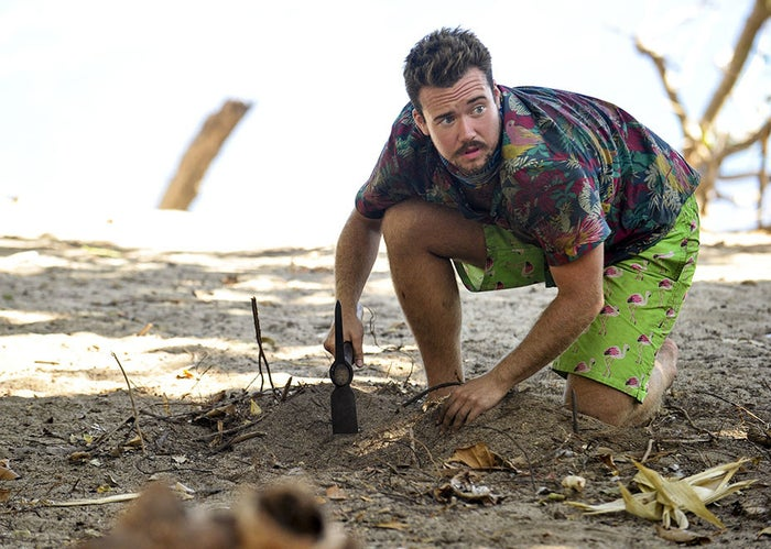 Zeke Smith in the episode of Survivor: Game Changers that aired Wednesday.