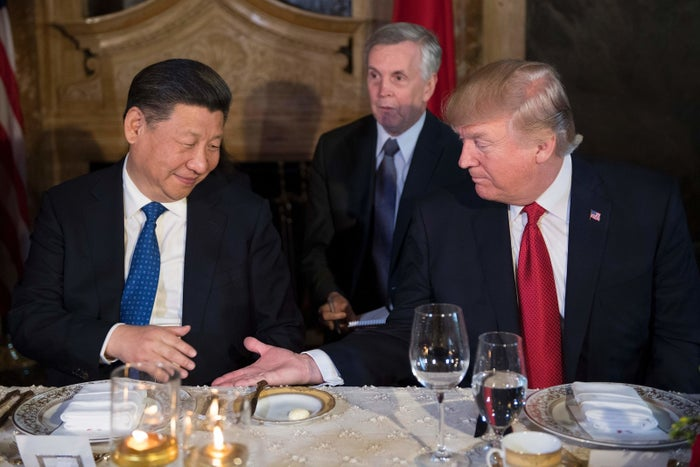 Chinese President Xi Jinping and President Donald Trump share dinner at Mar-A-Lago.