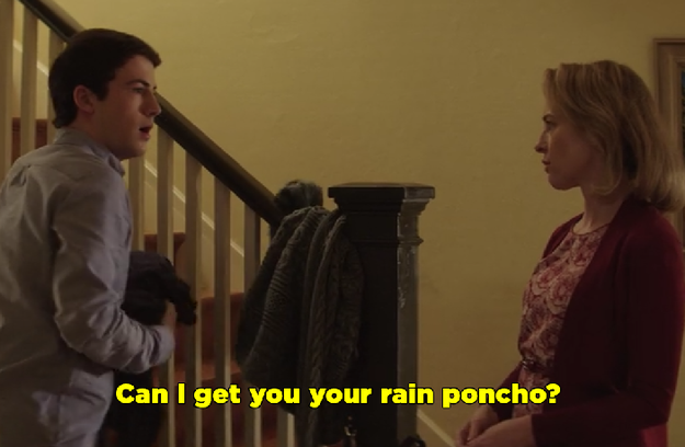 "You actually suggested that Clay wear his ""rain poncho"" to the party. Are you going to be OK?"