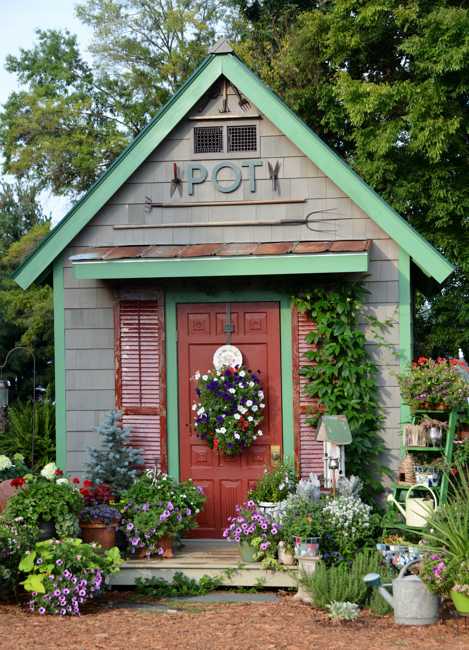this shed which the owner had dreamed about for years and finally