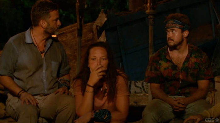 Jeff Varner and Zeke Smith on Survivor.