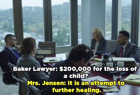 """Then you were basically like, """"Alright, let's just do this"""" and offered the Bakers a $200,000 settlement."""