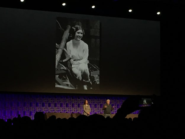 "Kathleen Kennedy, president of Lucasfilm, paid her respects to Fisher by saying, ""She will be remembered forever, even by those who are not old enough yet to say the words, 'May the force be with you.'"""