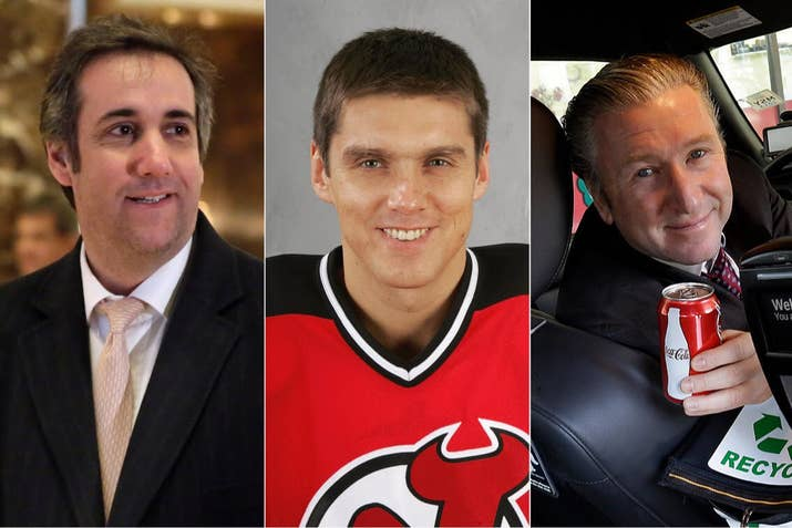 From left; Michael Cohen, the president's personal attorney; Vladimir Malakhov, a former NHL player; and Symon Garber, Cohen's partner and a taxicab magnate.