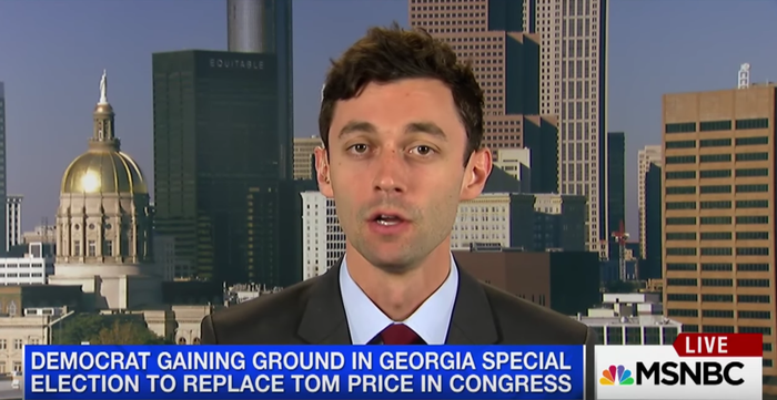 Jon Ossoff, who's become a surprise fundraising powerhouse and is running the Georgia special.