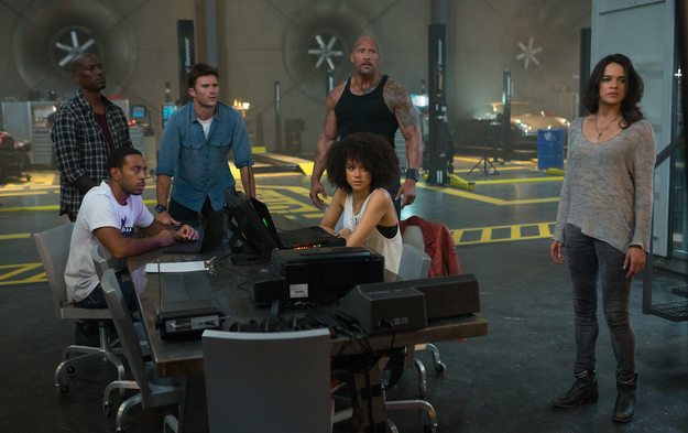 The first time comes about halfway through the film, when Letty (Michelle Rodriguez) insists the crew leave him out of their latest high-stakes drama. It's a quick, cough-and-you'll-miss-it moment.