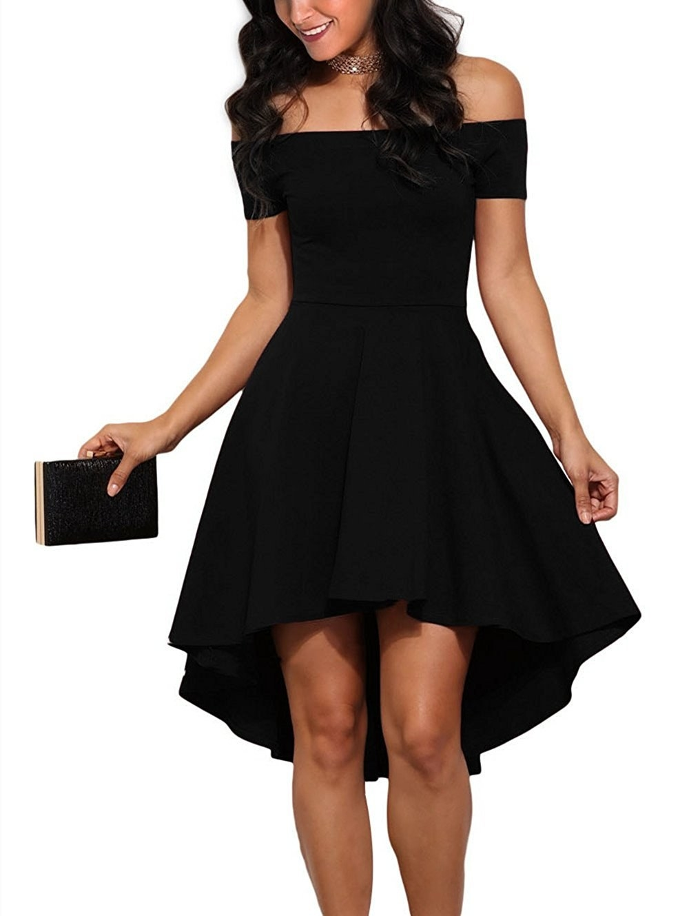 4d249cc4ff6 A skater dress with an off-shoulder neckline you will want to wear to all  83 weddings you have to attend this summer. (It s so comfy
