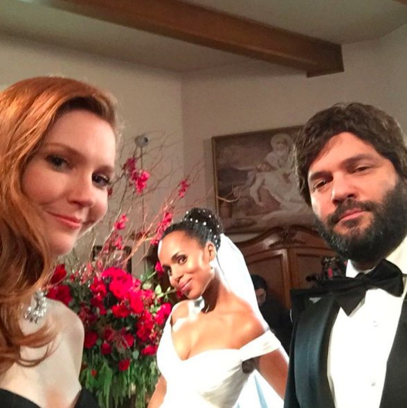 Her faithful friends and gladiators, Abby (Darby Stanchfield) and Huck (Guillermo Díaz), were also present.