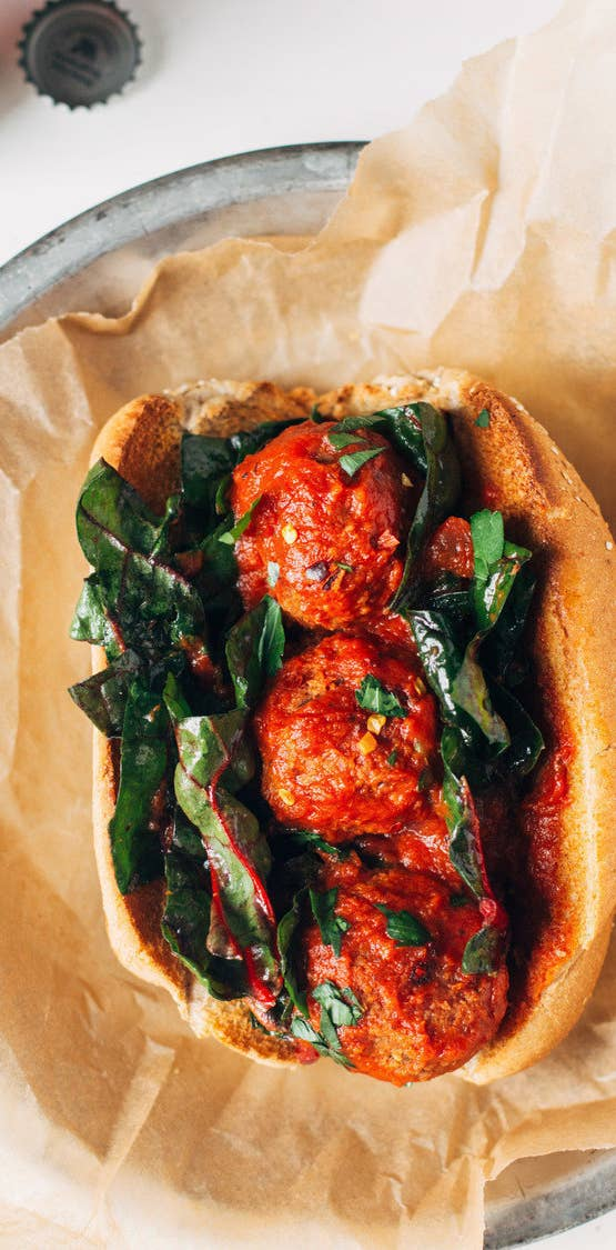 28 comfort food recipes with no meat or dairy 7 white bean and mushroom meatball subs forumfinder Images