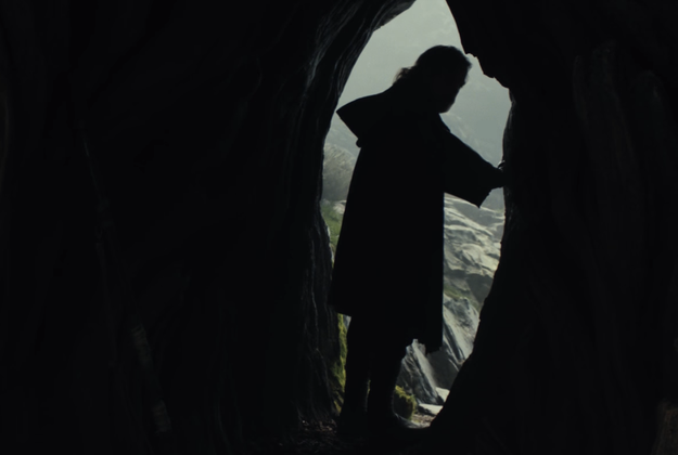 """The trailer ends with Luke standing in his cave. """"It's time for the Jedi...to end,"""" he says."""