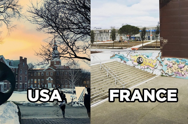 college in america vs college in france