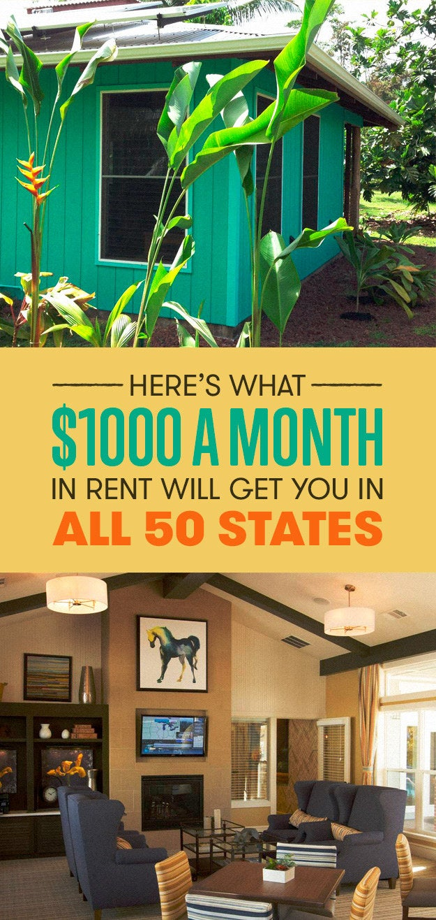 Heres What 1000 A Month In Rent Will Get You In All 50 States